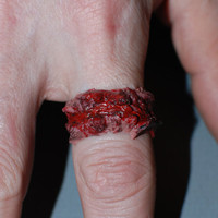 Halloween Costume Jewelry  - Chopped Flesh Ring - Extra Chunky