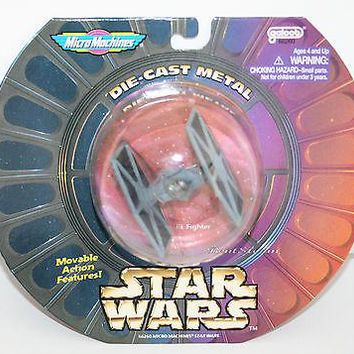 Licensed cool 1997 STAR WARS TIE-FIGHTER Vehicle Die cast Metal Micro Machines NIP