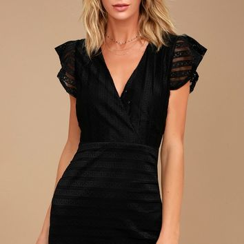 J.O.A. Everlasting Allure Black Lace Dress
