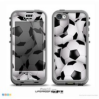 The Soccer Ball Overlay Skin for the iPhone 5c nüüd LifeProof Case