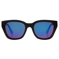 Woodzee Kylie - Wooden Sunglasses - Black Sunglasses - Blue Mirror