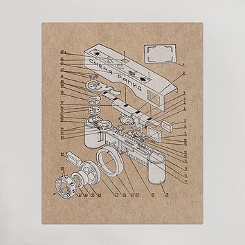 Exploded View Camera Print