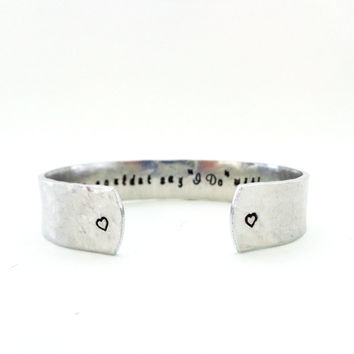 Personalized Secret Message Cuff Bracelet, We Couldn't Say I Do Without You, Textured, Customizable
