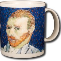 Vincent Van Gogh - Self Portraits - 14oz Coffee Mug