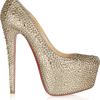 Christian Louboutin - Daffodile 160 crystal-embellished suede pumps