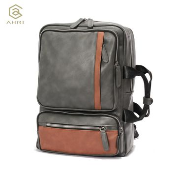 Backpacks for men Bags PU Leather Men's Shoulder Bags Men Business Casual