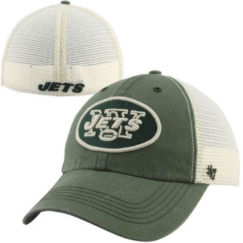 47 Brand New York Jets Caprock Canyon Flex Hat - Natural/Green