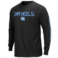 Majestic North Carolina Tar Heels (UNC) Classic Victory Long Sleeve T-Shirt - Charcoal