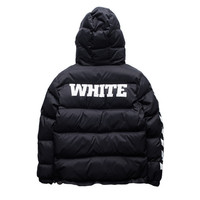 OFF WHITE Mens Men Hip Hop Jackets High Quality number 13 printed Fashion winter fashion Coat Kanye West Men Jacket 3 colors