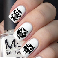 50pc Owl  Nail Decal set