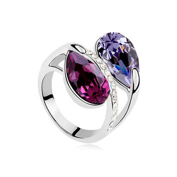 Gift Jewelry Shiny New Arrival Stylish Crystal Ring [4989649284]