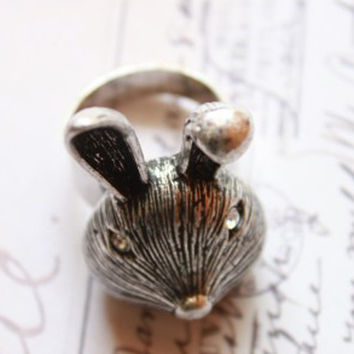 Shiny New Arrival Jewelry Stylish Gift Korean Accessory Vintage Rabbit Ring [6586143175]