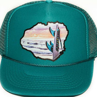 Kauai beach trucker hat