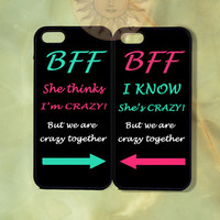 Best Friend BFF Couple Cases-iPhone 5, 5s, 5c, 4s, 4, ipod 5, Samsung GS3, GS4-Silicone Rubber or Hard Plastic Case cover