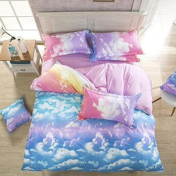 New Style Fashion Style Cloud Bedding Set Queen/Full/Twin Size Bed Linen Set 4pcs Bedding Set Sale Duvet Cover Queen