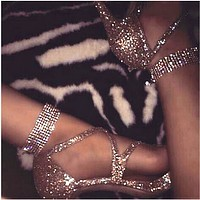 Fashion women sexy anklet rhinestone shining anklet