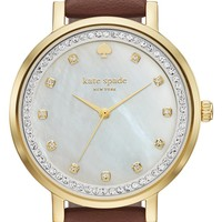 kate spade new york 'monterey' leather strap watch, 35mm | Nordstrom