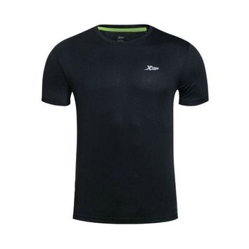 ICIKHN1 XTEP Brand 2016 Summer Outdoors Running T-shirts 100% Polyster Tops Fit Sports Shirt Quick Dry Men Shirt Sportswear 884229019103