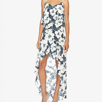 Exclusive for Intermix Floral Print Hi/Lo Dress at INTERMIX | Shop Now | Shop IntermixOnline.com