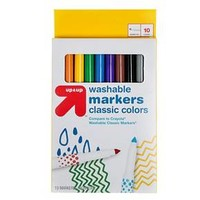Markers Fine Tip Washable Classic Colors 10ct - up & up™