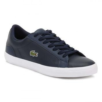 Lacoste Mens Navy Lerond BL1 CAM Trainers