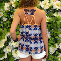 Roswell Lights Navy Tribal Tank