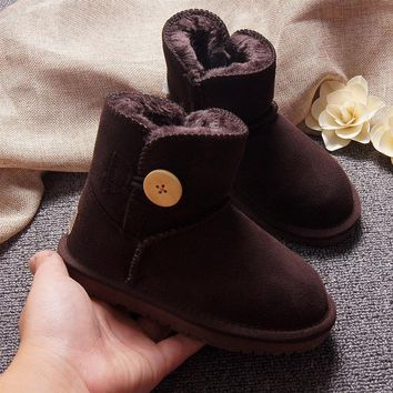 Low-cylinder parent-child shoes snow boots men and women thicken baby shoes
