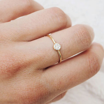Simple ring - Thin gold ring - Stacking rings - Tiny ring