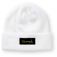 Diamond Supply Co. Gold Foil White Beanie