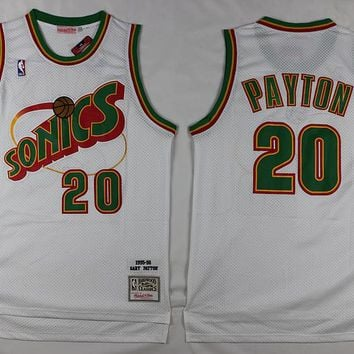 Seattle Supersonics #20 Gary Payton Classic Retro Swingman Jersey
