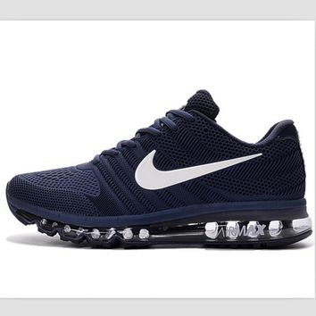 Tagre™ NIKE Shock Absorbing Hight Quality Deep Blue Casual Sports Running Men Shoes