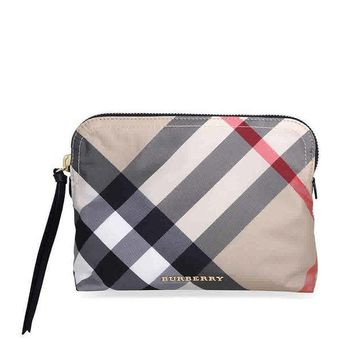 CREYON3F Burberry Large Zip-top Technical Pouch - Camel