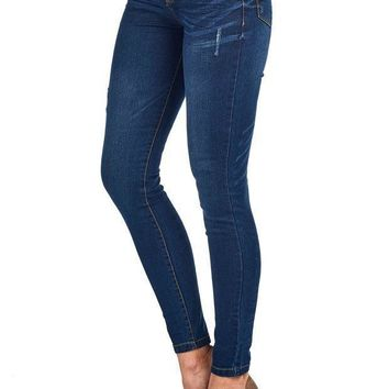 Blue Age Womes Perfect Fit Stretch Cotton Skinny Jeans(jp1064_dk_13)