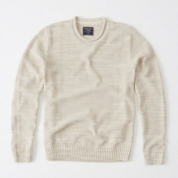 Mens Seed Stitch Sweater | Mens Tops | Abercrombie.com