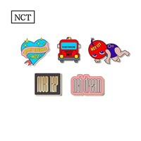Kpop NCT 127 Dream Acrylic Badge Cartoon Brooch Button for Shirt Hat Backpack Accessories DIY