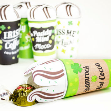 St.Patrick's Day Printable Mini Treat cups, St.Patrick's Day party favors