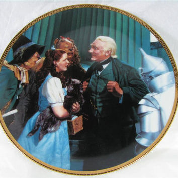 """1988 Hamilton Collection WIZARD OF OZ """"The Great and Powerful Oz"""" porcelain art #1808E"""