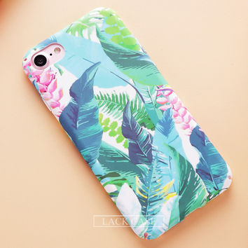 Blue Floral Phone Case For iPhone 7 7Plus 6 6s Plus