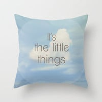 The Little Things Throw Pillow by Rachel Burbee | Society6