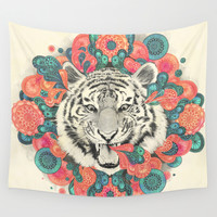 bengal mandala Wall Tapestry by Laura Graves