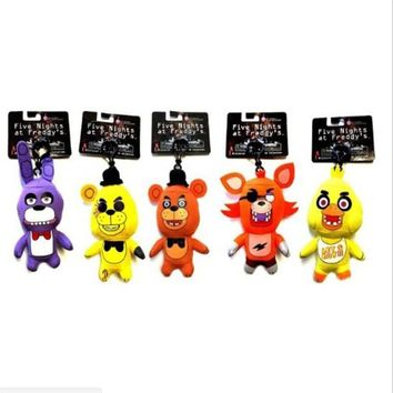 Cute Anime Five Night At Freddy  Foxy Bonnie Bear Foxy Plush Toys Pendant Stuffed Doll Freddy Toys For Children Gifts