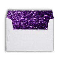 Beautiful Purple glitter sparkles print envelopes by PLdesign