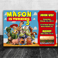 Toy Story Party Invitation, Custom Toy Story Birthday Invite, Toy Story Party Invite, Digital File or Physical Copies Available