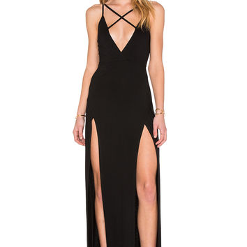 REVERSE X Marks Dress in Black