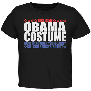 Halloween Funny Obama Costume Black Toddler T-Shirt