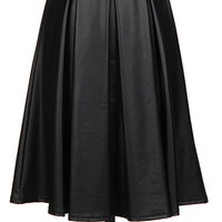 A Midi-Summer Night's Dream Skirt - Black