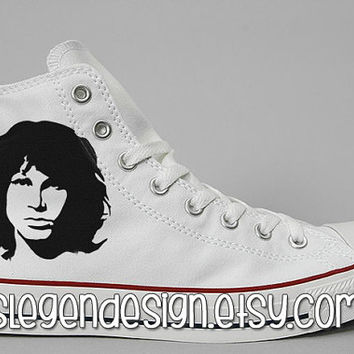 The Doors Painted Shoes / Jim Morrison Custom Converse