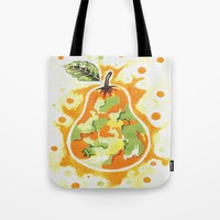 Abstract Pear Tote Bag by Kathleen Sartoris