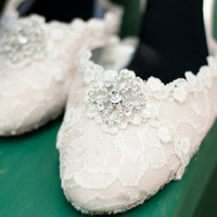 Crystal Bridal Shoes by The Crystal Slipper  by TheCrystalSlipper