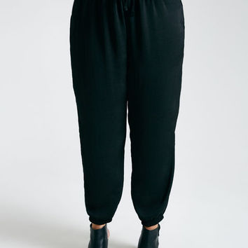 Plus Size Silky Drawstring Joggers | Wet Seal Plus